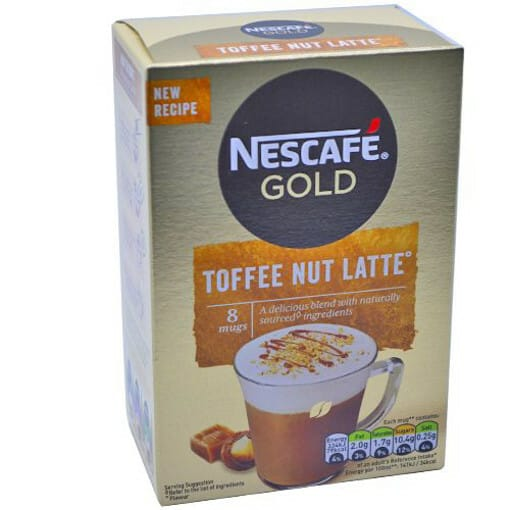 NESCAFE GOLD ΦΑΚΕΛΑΚΙ 136gr. - (8x19.5gr.) (TOFFEE NUT LATTE)